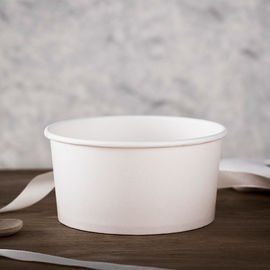 Double PE Coated 300gsm Paper Take Away Salad Bowls 1500ml
